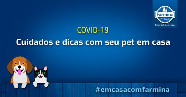 Capa de 'COVID-19: CUIDADOS PARA QUEM AMA ANIMAIS'